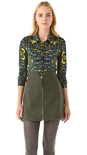 Opening Ceremony Cropped Dress Shirt