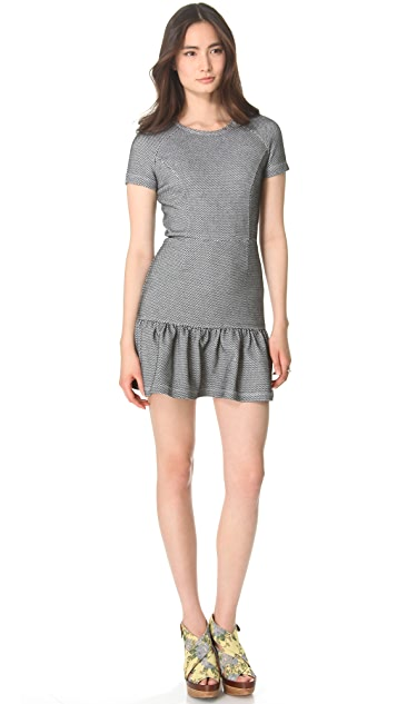 Opening Ceremony Dropped Ruffle Tee Dress