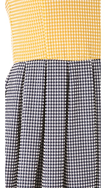 Opening Ceremony Stanley Gingham Pleated Dress