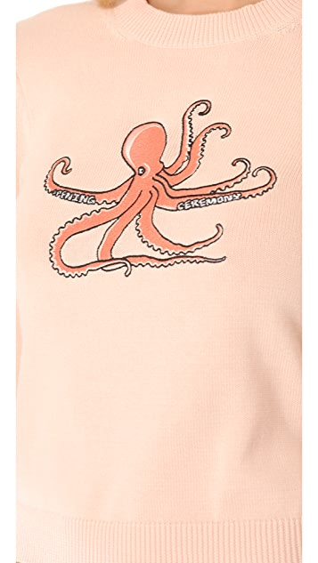 Opening Ceremony Octopus Patch Sweater