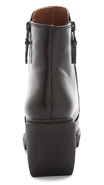 Opening Ceremony Grunge Double Zip Booties