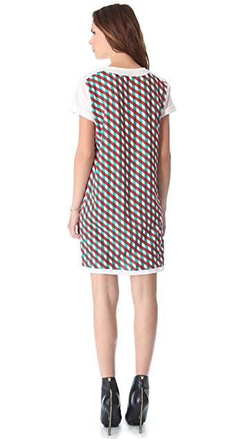 Opening Ceremony Double Print Boxy Dress