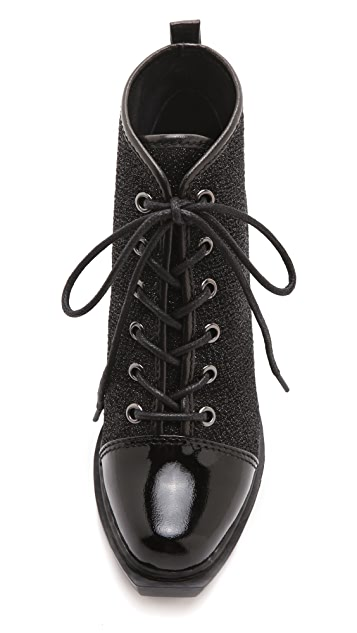 Opening Ceremony Grunge Sneaker Lace Up Booties