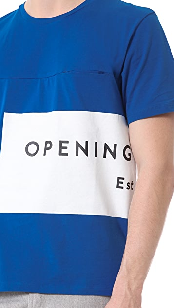 Opening Ceremony Label Logo Pocket T-Shirt