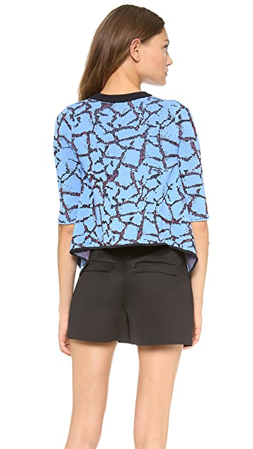 Opening Ceremony Crackle Jacquard Handkerchief Top