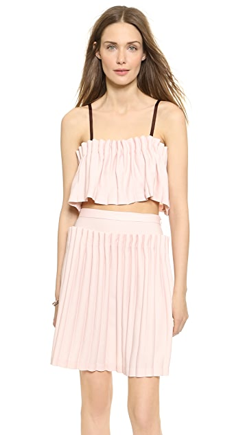 Opening Ceremony Lottle Pleated Bralette Top