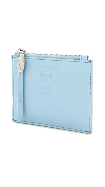 Opening Ceremony Lyo Small Double Zip Pouch