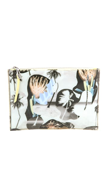 Opening Ceremony Printed Lyo Zip Clutch