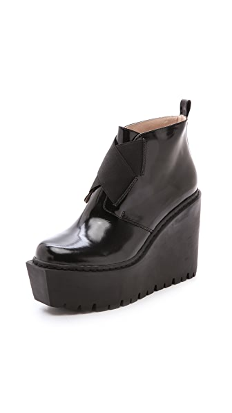 Opening Ceremony Grunge Wedge Elastic Boots
