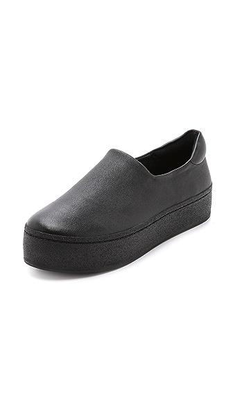 Kupi Opening Ceremony online i prodaja Opening Ceremony Leather Slip On Platform Sneakers Black haljinu online