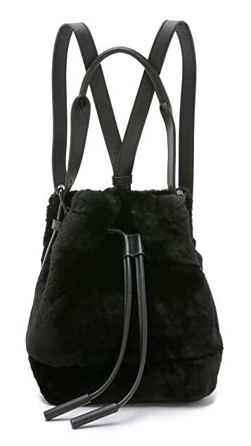 Opening Ceremony Shearling Mini Izzy Backpack