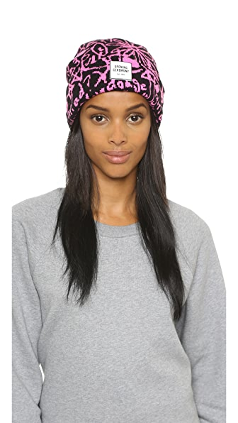 Opening Ceremony Spike Scribbles Knit Beanie
