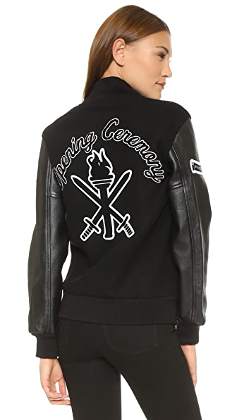 Opening Ceremony OC Varsity Jacket - Black