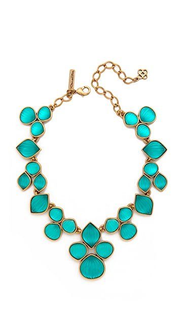 Oscar de la Renta Carved Resin Necklace