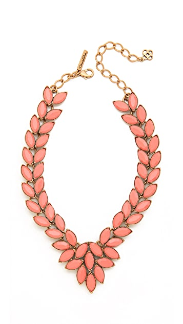 Oscar de la Renta Opaque Navette Necklace
