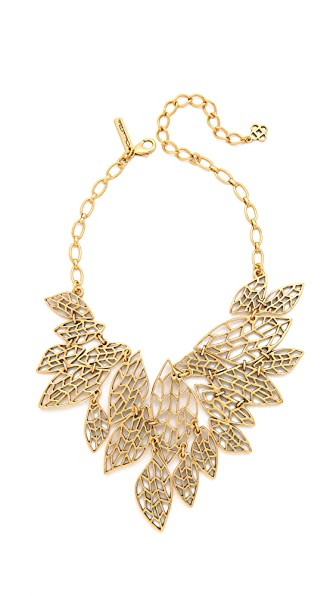 Oscar de la Renta Multi Leaf Bib Necklace