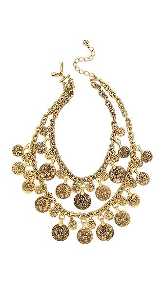 Oscar de la Renta Coin Necklace
