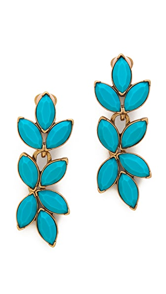 Oscar de la Renta Opaque Navette Clip On Earrings
