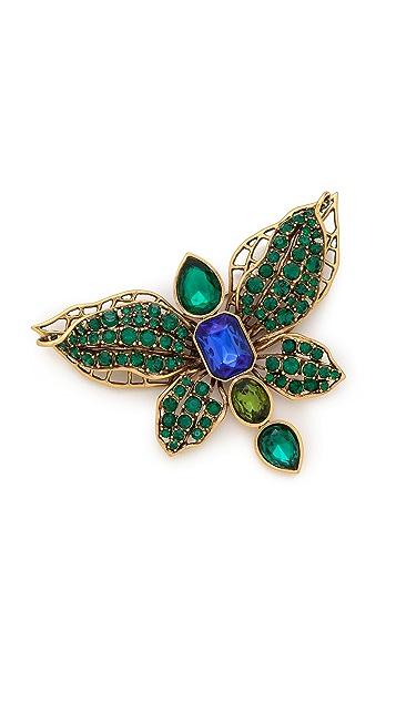 Oscar de la Renta Butterfly Brooch