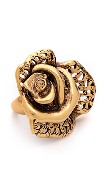 Oscar de la Renta Carved Rose Ring