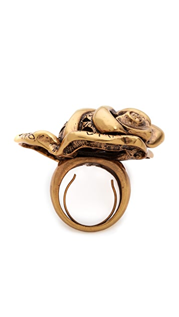 Oscar de la Renta Carved Rose Ring