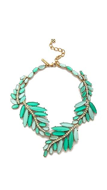 Oscar de la Renta Marquise Stone Resin Leaf Necklace