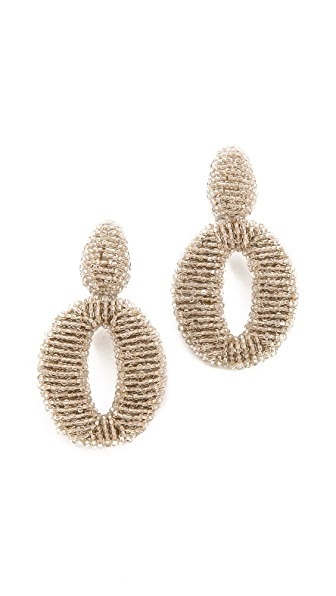 Oscar de la Renta Oscar Clip On Earrings