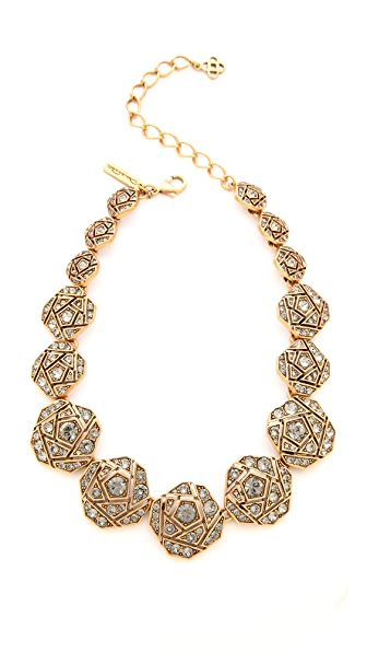 Oscar de la Renta Rose Pave Necklace