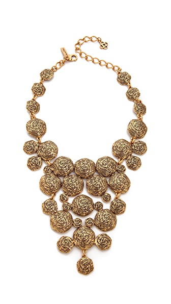 Oscar de la Renta Swirl Necklace