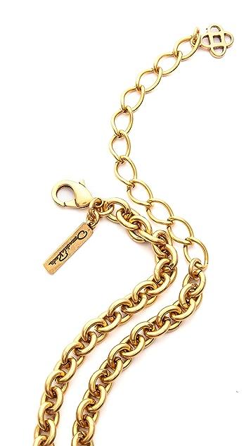 Oscar de la Renta Rose Pave Brooch / Necklace