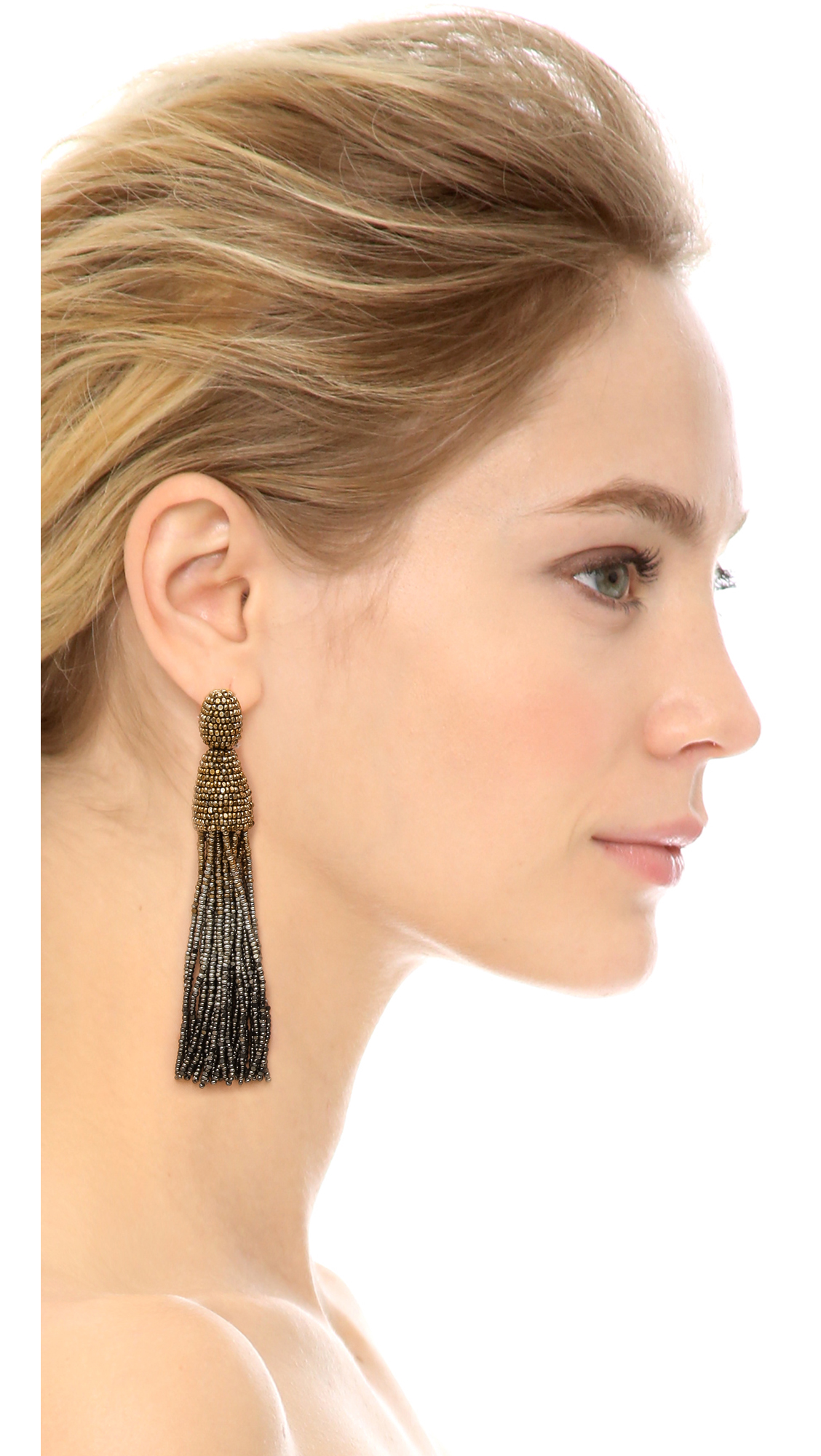 Oscar De La Renta Ombre Tassel Earrings Shopbop