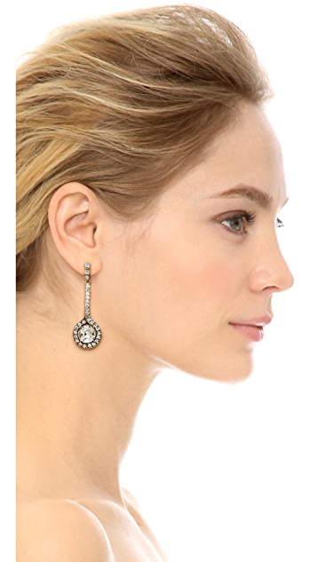 Oscar de la Renta Jeweled Drop Earring