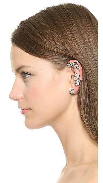 Oscar de la Renta Navette Ear Cuff with 2 Stud Earrings