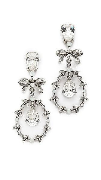 Oscar de la Renta Bow Earrings