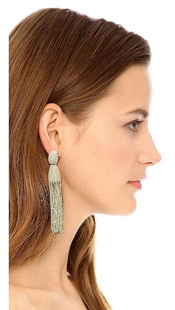 Oscar de la Renta Classic Long Chain Tassel Earrings