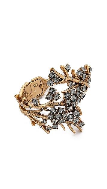 Oscar de la Renta Crystal Branch Bracelet