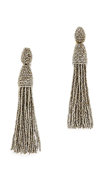 Oscar de la Renta Tassel Earrings - Champagne