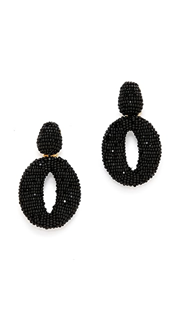 Oscar de la Renta Classic Oscar O Earrings
