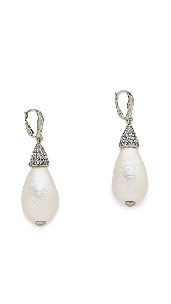 Oscar de la Renta Drop Earrings - Pearl