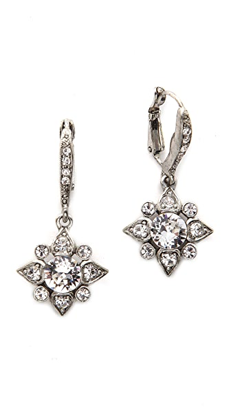 Oscar de la Renta Delicate Star Earrings - Crystal/Silver