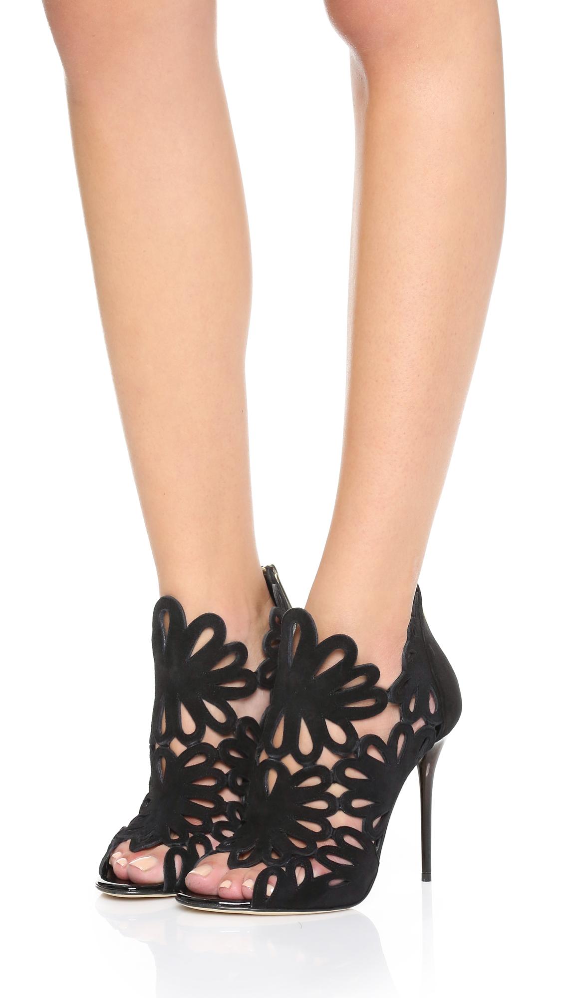 Oscar de la Renta Suede Cutout Sandals low shipping online IZRf4B
