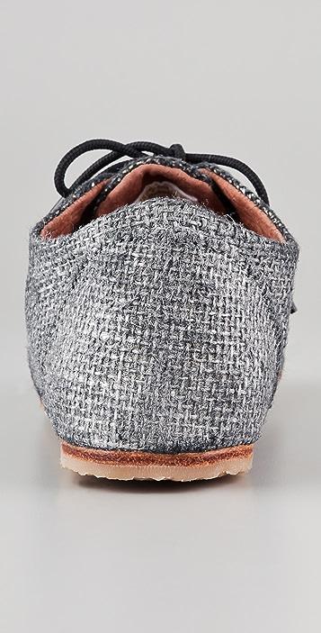 Osborn Silver Metallic Oxfords