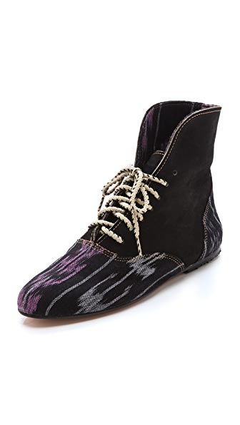 Osborn Ikat Lace Up Booties