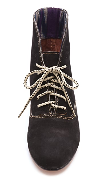 Osborn Leather Print Cuff Booties