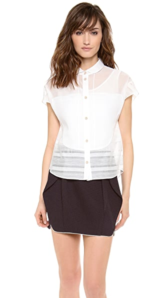 O'2nd Robin Patched Shirt with Camisole