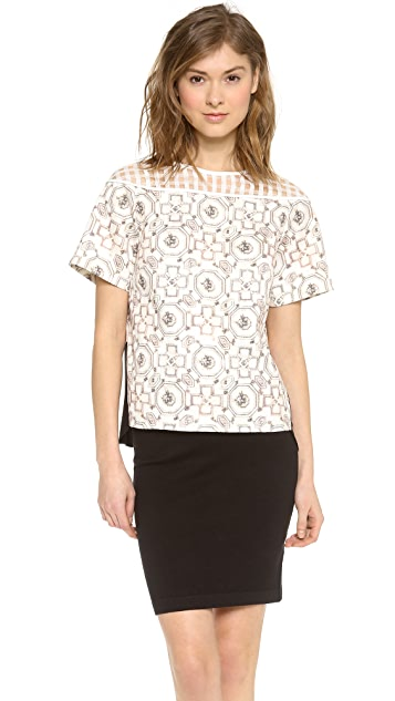 O'2nd Brilliant Print Patch Top