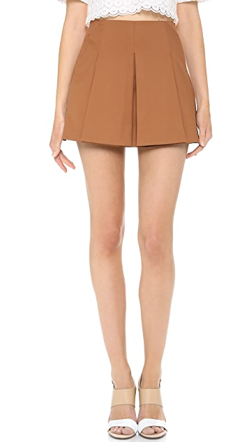O'2nd Bonding Fabric Pleated Skirt