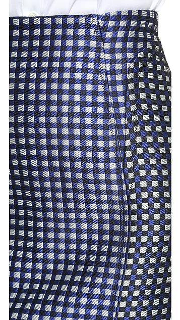O'2nd Global Check Piped Skirt