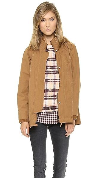 O'2nd Hooded Trapeze Jacket