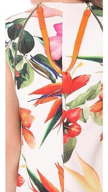 Osklen Prime Print Sleeveless Dress